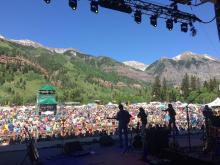 43rd Telluride Bluegrass Festival (my 40th time to play there)
